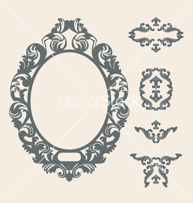 380x400 Victorian Frame Vector Tattoos! Victorian Frame