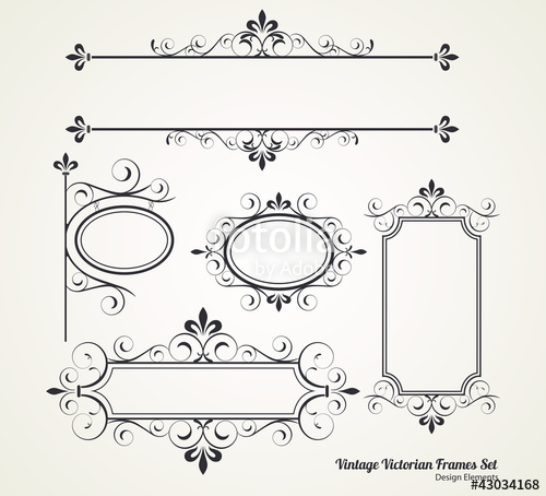 500x454 Vintage Victorian Frame Set Stock Image And Royalty Free Vector