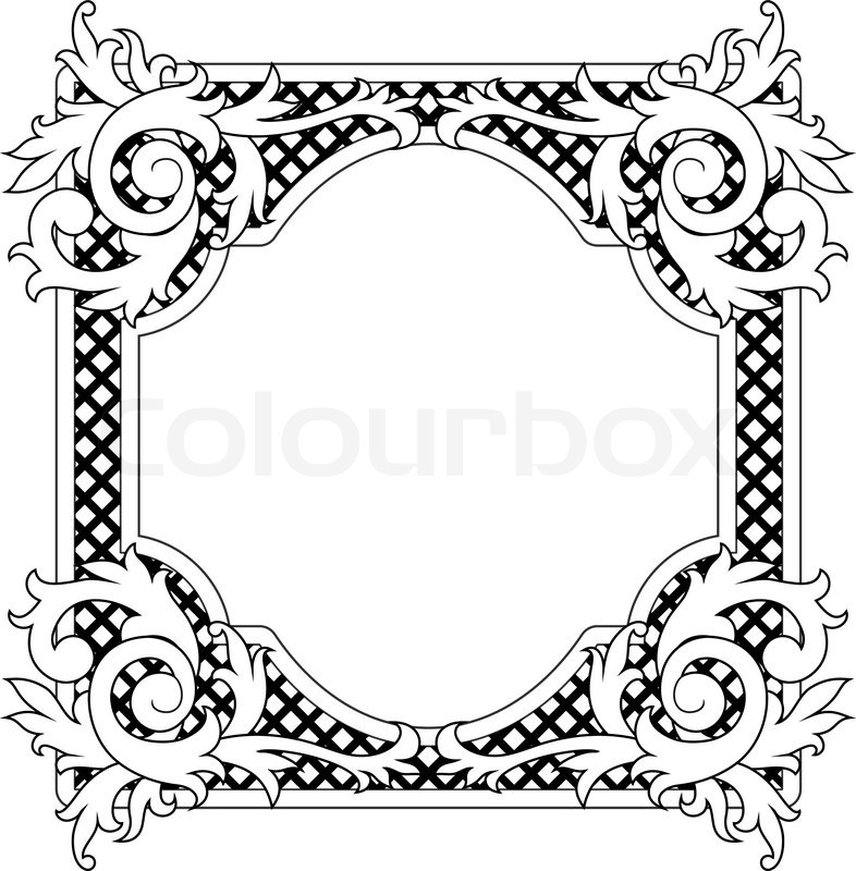 786x800 Vintage Frame In Victorian Style For Design As A Background