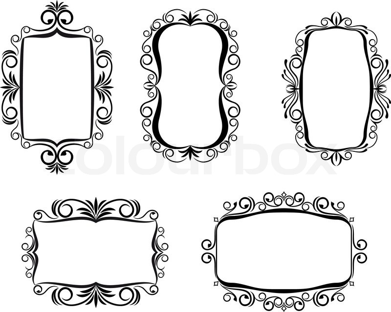 800x639 Vintage Frame In Victorian Style For Ornate And Design Stock