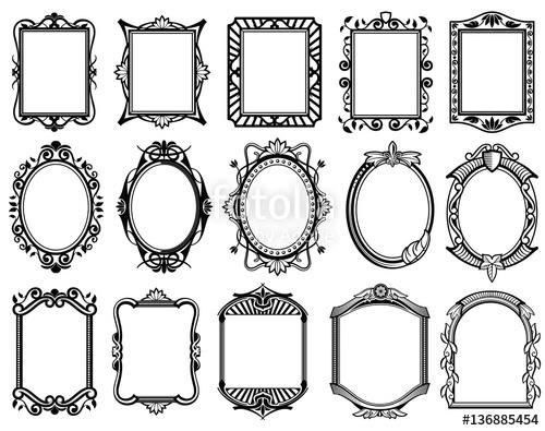 500x395 Vintage Victorian, Baroque, Rococo Frame For Mirror, Menu, Card