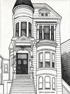 236x318 Hand Drawn Victorian Home Stock Vector Art More Images Of