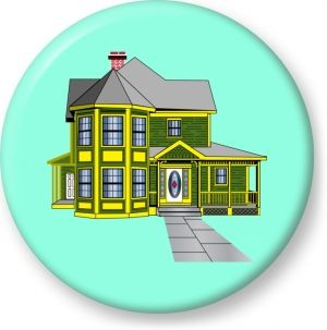 300x303 Old Victorian House Vector
