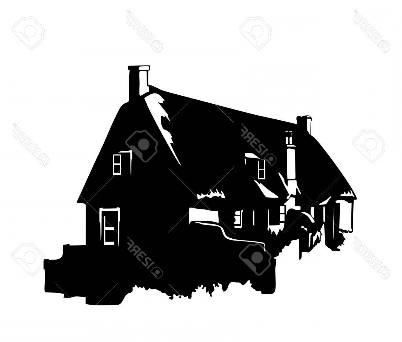 1560x1330 Photostock Vector Vector Silhouette Of A Vintage English Rural