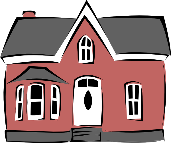 600x503 Simple Victorian House Clipart