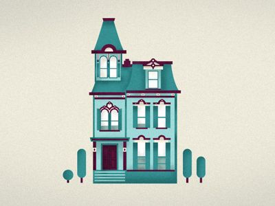 400x300 Victorian Illustrations House Illustration