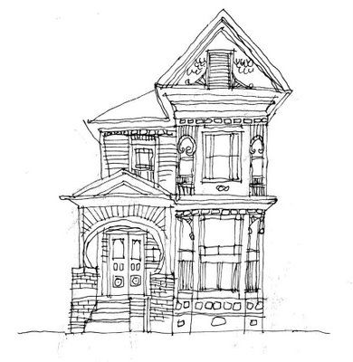 390x400 Best 25 House Drawing Ideas House Sketch, Line Art
