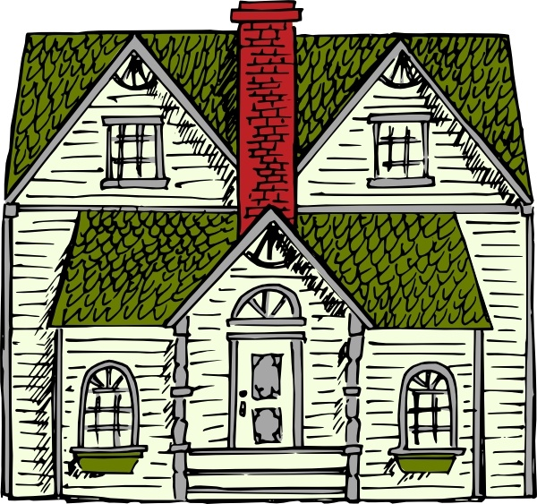 600x563 Victorian House Clip Art Free Vector In Open Office Drawing Svg
