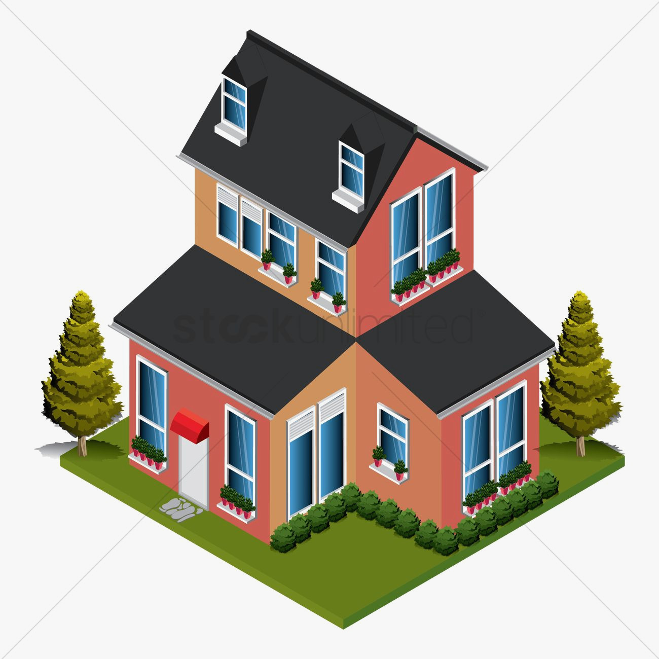1300x1300 Victorian Mansion Isometric Best Of Isometric House Vector Image