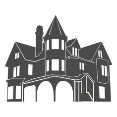 236x236 Collection Of Victorian House Silhouette Download Them And Try