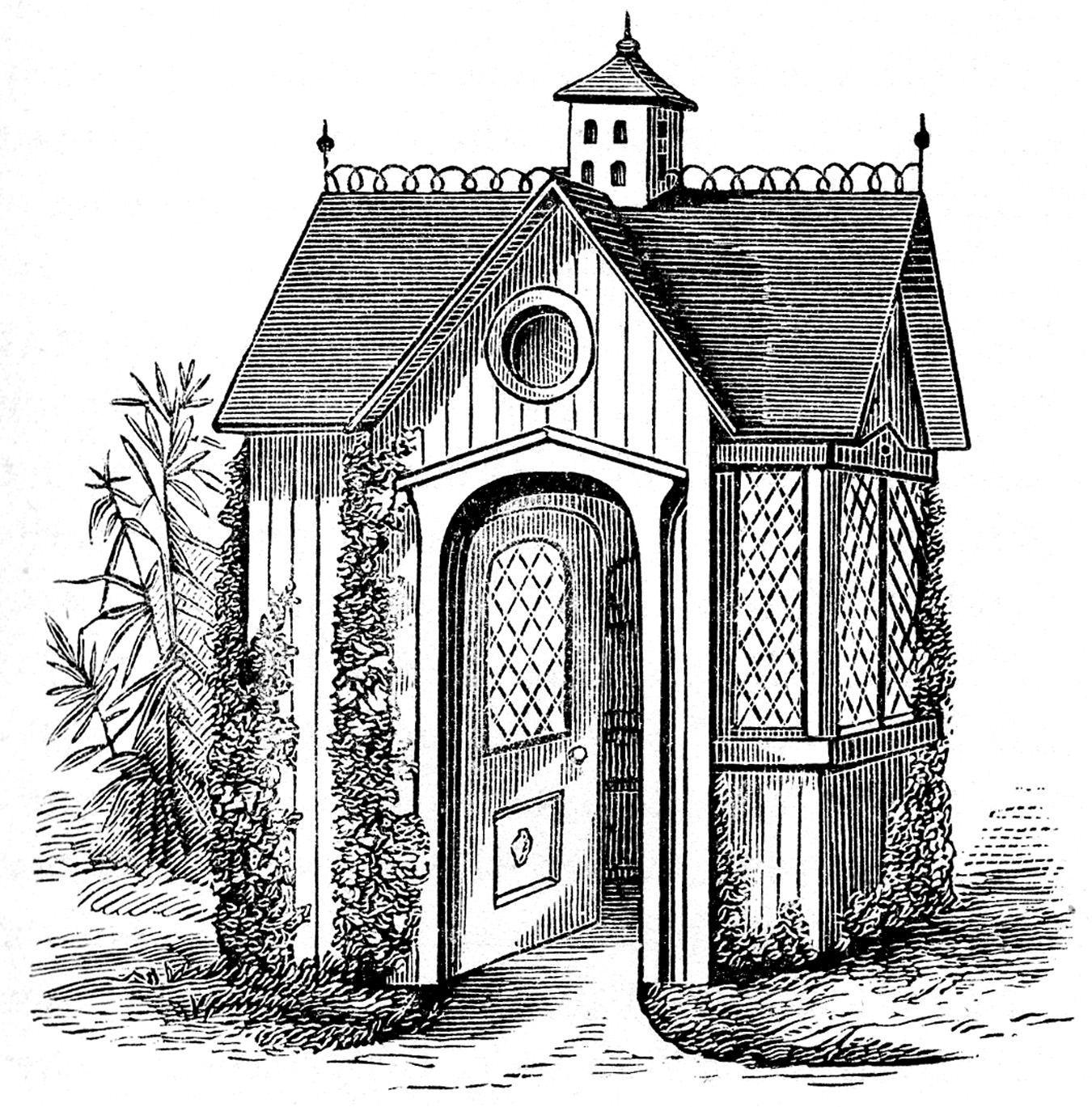1350x1369 Collection Of Free Houses Clipart Vintage. Download On Ubisafe