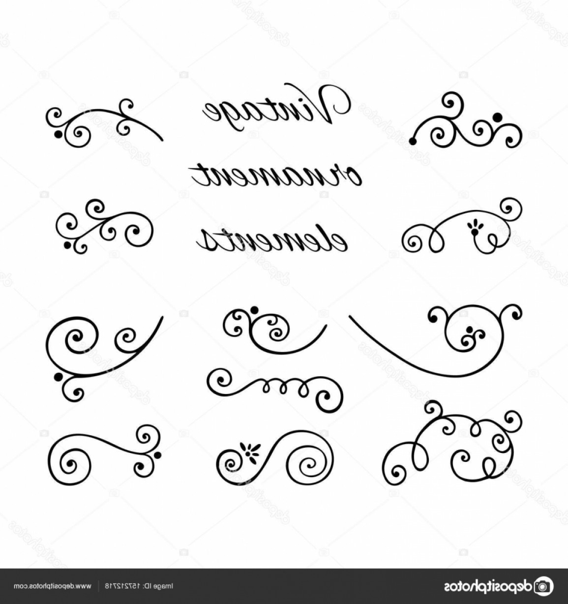 1155x1228 Stock Illustration Victorian Swirly Ornaments Vector Arenawp
