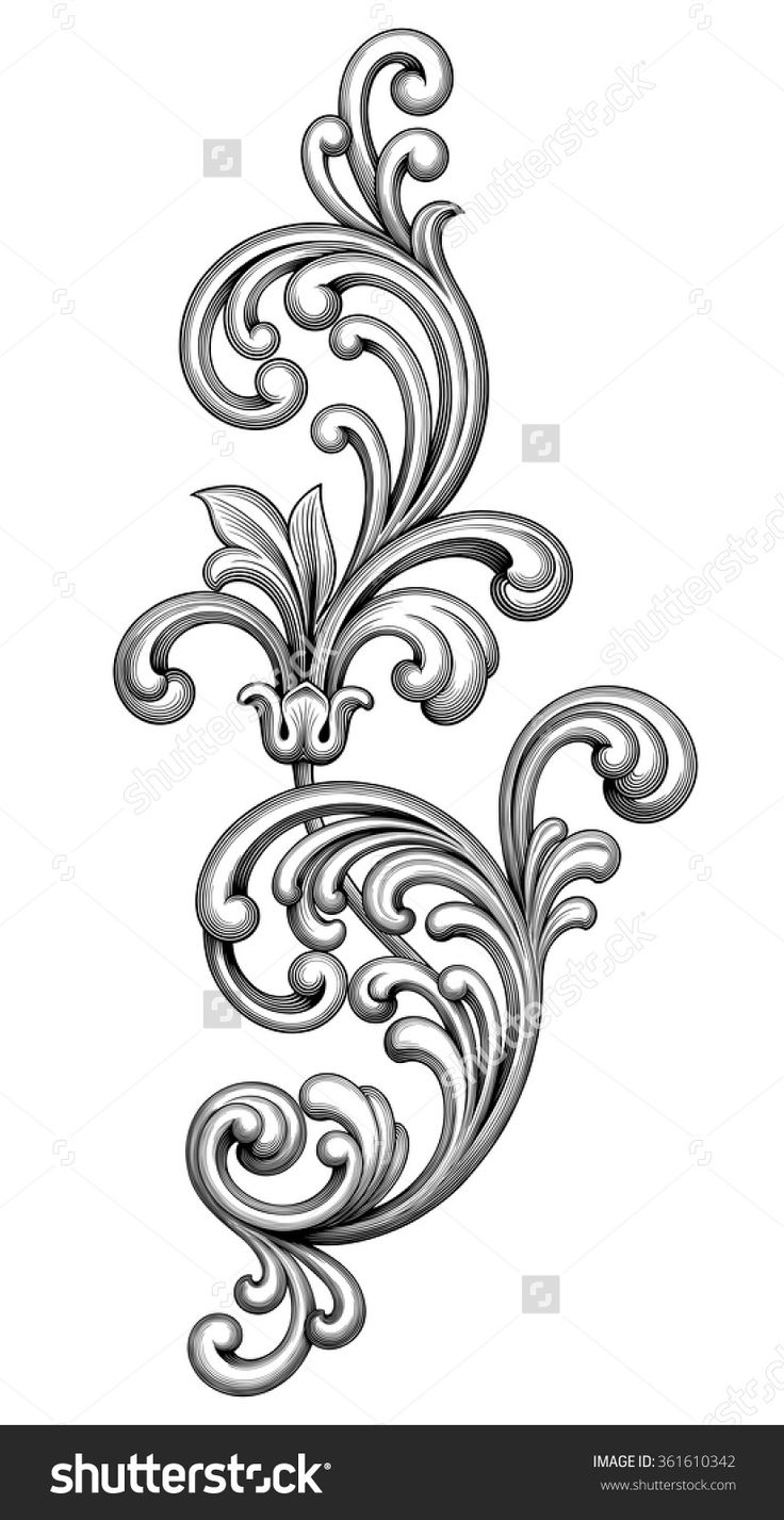 736x1427 Victorian Clipart Vintage Ornament