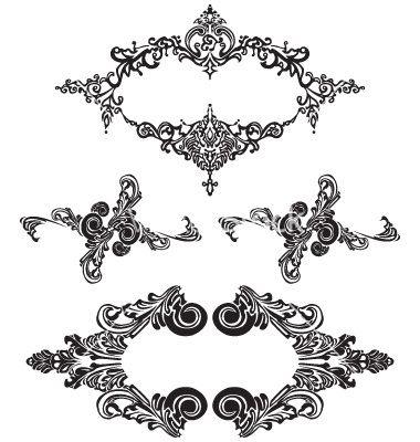 380x400 Victorian Ornaments Vector 30159