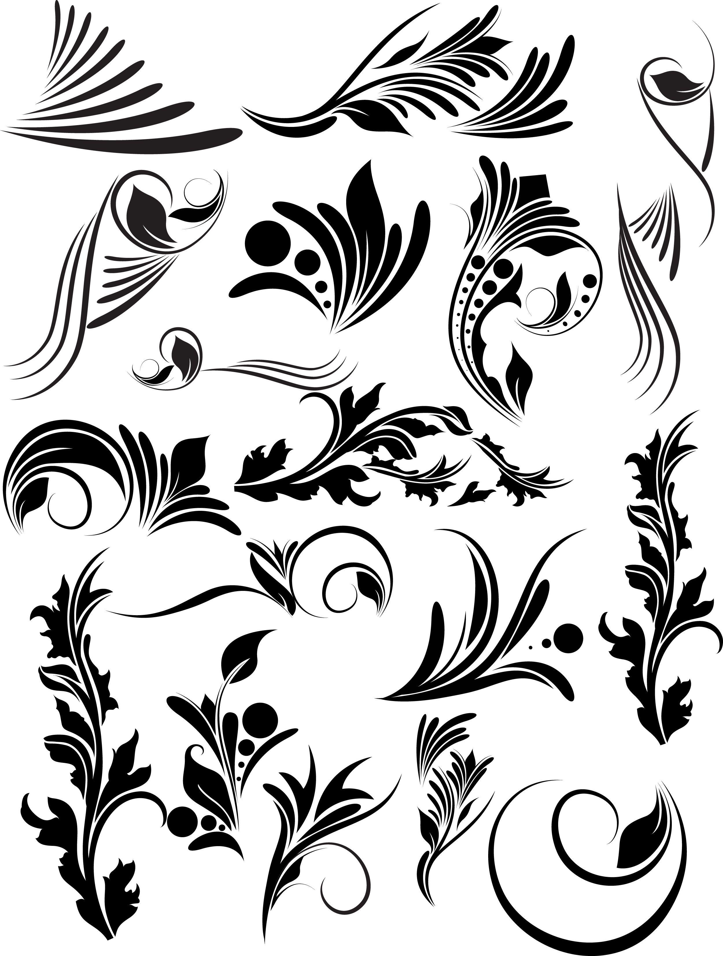 2500x3307 Victorian Vector Clip Art Design Vector, Silhouette, Line Art