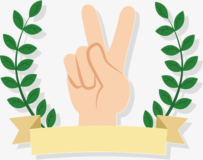 650x514 A Gesture Of Victory, Vector Png, Green Leaves, Leaf Border Png