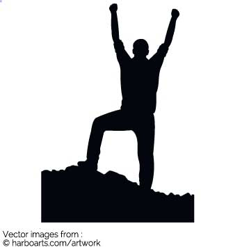 335x355 Download Hiking Victory Silhouette