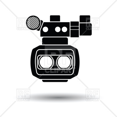 400x400 3d Movie Camera Icon Vector Image Vector Artwork Of Signs