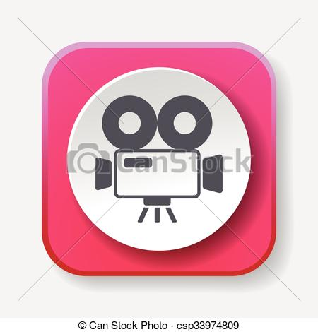 450x470 Video Camera Icon Vector Clipart