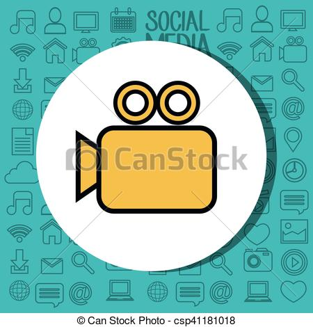 450x470 Video Camera Silhouette Isolated Icon Vector Illustration