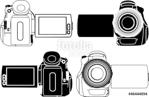 500x327 High Definition Video Camera Vector 06 Stock Image And Royalty