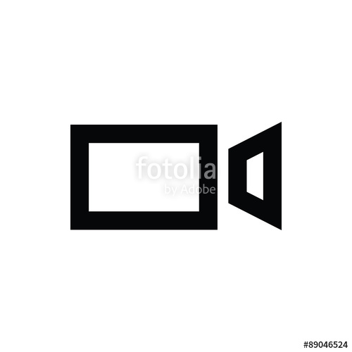 500x500 Video Camera Vector Icon Stock Image And Royalty Free Vector