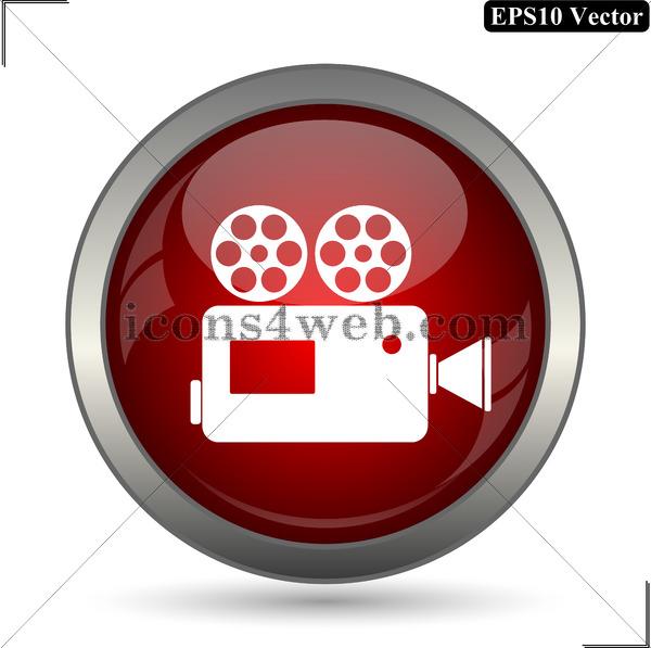 600x597 Video Camera Vector Icon. Video Camera Vector Button. Eps10