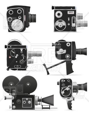 311x400 Vintage (Retro) Video Cameras Vector Image Vector Artwork Of