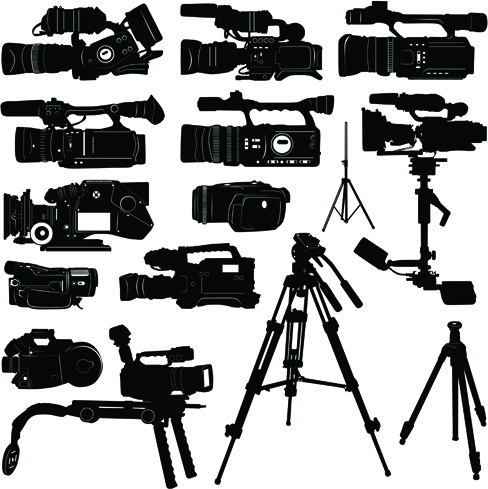 488x489 Vivid Camera And Camcorder Elements Vector Free Vector In