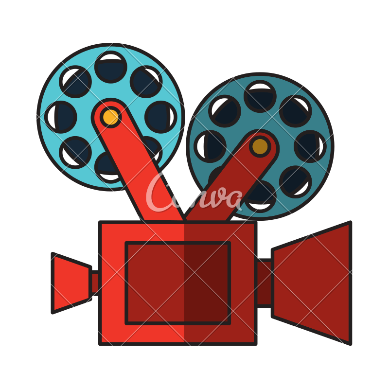 800x800 Film Video Camera Vector