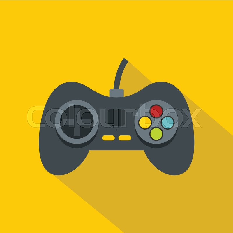 800x800 Video Game Controller Icon. Flat Illustration Of Video Game
