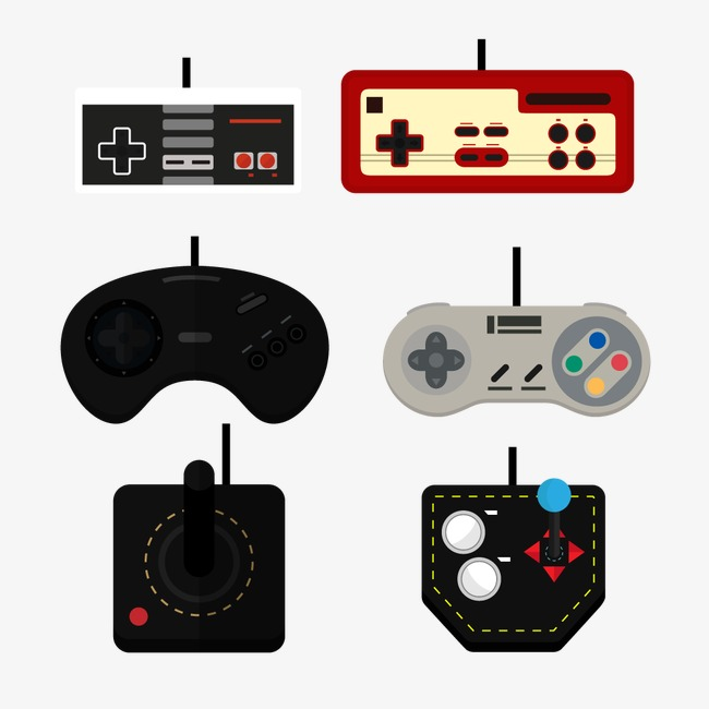 650x650 Vector Retro Game Controllers, Vintage Game Controllers, Hand Game
