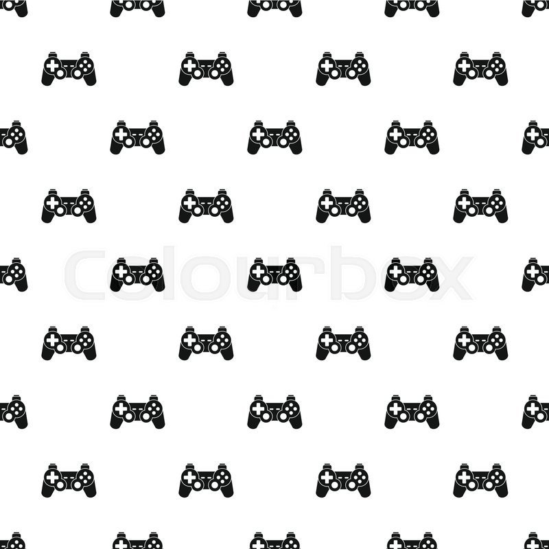 800x800 Video Game Controller Pattern. Simple Illustration Of Video Game
