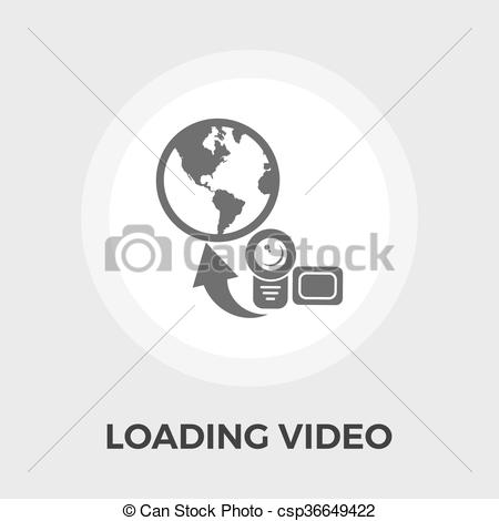 450x470 Upload Video Flat Icon. Upload Video Icon Vector. Flat Icon