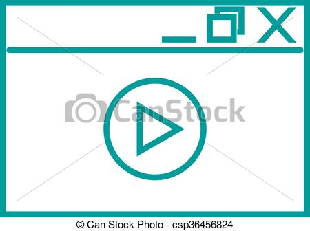 450x336 Video Player Vector Illustration. Video Player Isolated On White