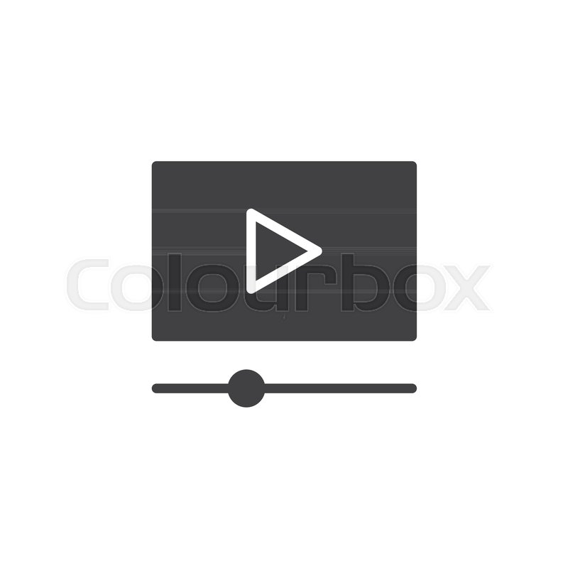 800x800 Cinema Movie Player Vector Icon. Filled Flat Sign For Mobile