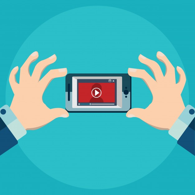 626x626 Vector Illustration Of Mobile App For Video Flat Style Video