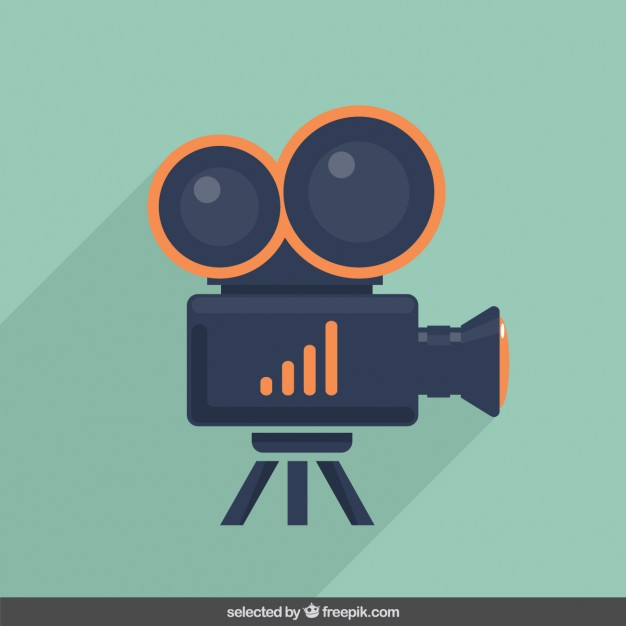 626x626 Video Camera Illustration Vector Free Download
