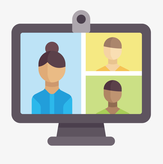 650x651 Color Video Conference, Color Vector, Video Vector, Video Clipart