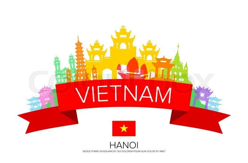 800x528 Vietnam Travel, Hanoi Travel, Landmarks. Vector And Illustration