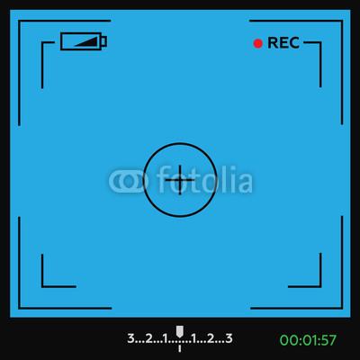 400x400 Camera Viewfinder Vector. Camera Viewfinder Cinema Vector Illust
