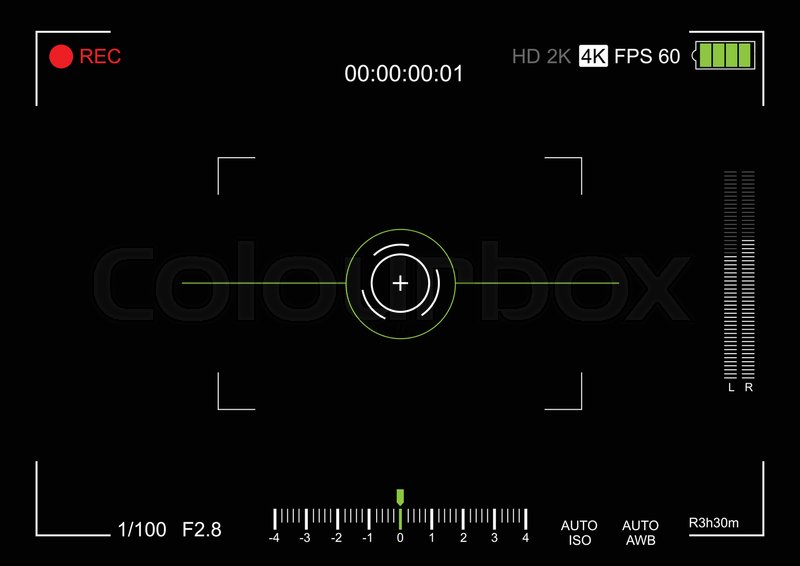800x566 Camera Viewfinder. Viewfinder Camera Recording. Video Screen On A
