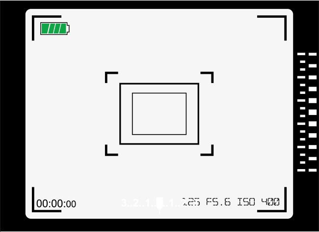650x472 Viewfinder Frame For Digital Camera, Frame Vector, Camera Vector