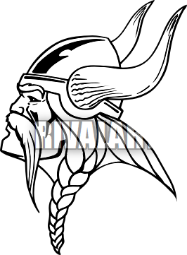 Viking Head Vector