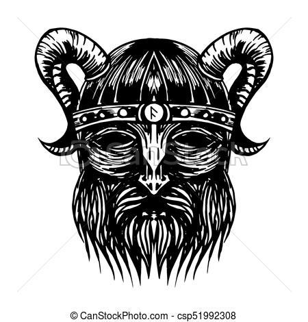 450x470 Ancient Viking Head Illustration. Ancient Viking Head... Vector