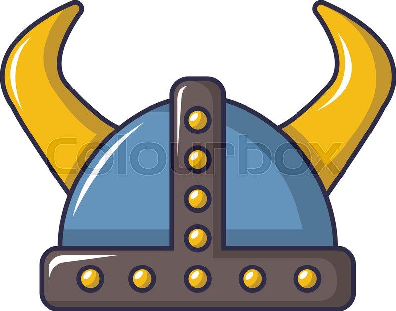 800x629 Swedish Viking Helmet Icon. Cartoon Illustration Of Swedish Viking
