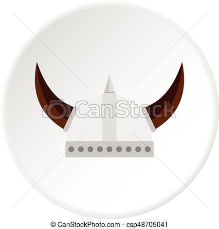 450x470 Viking Helmet Icon Circle. Viking Helmet Icon In Flat Circle