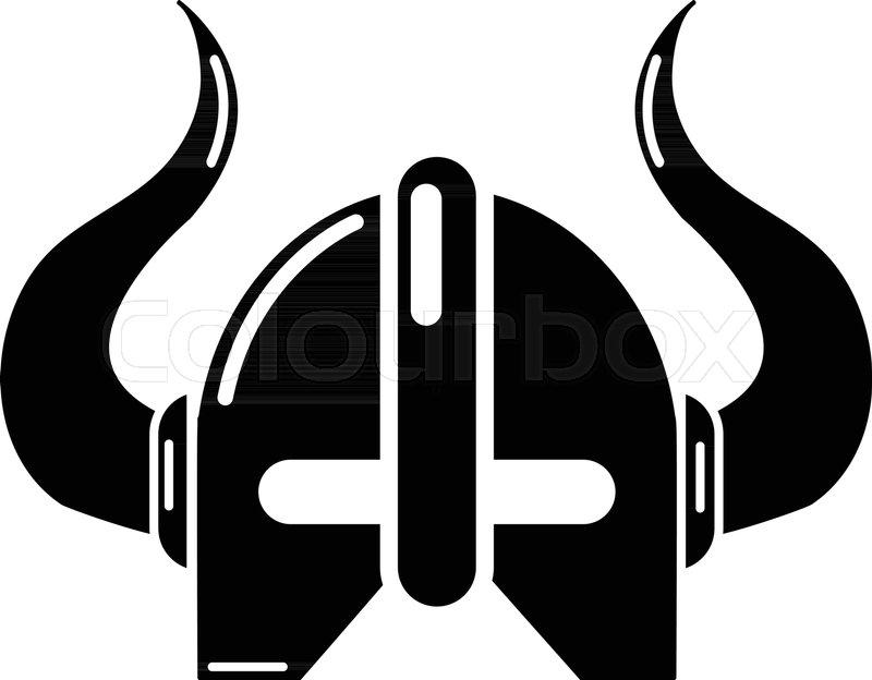 800x624 Viking Helmet Icon. Simple Illustration Of Viking Helmet Vector