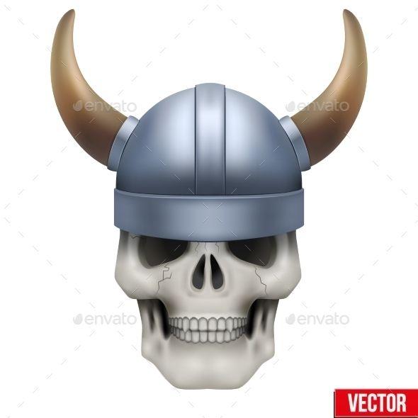 590x590 Skull With Helmet Viking Helmet, Helmets And Human Skull