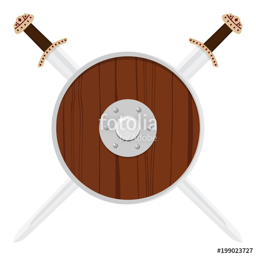 500x500 Viking Shield And Sword Stock Image And Royalty Free Vector Files